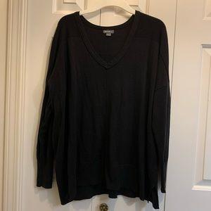 Eddie Bauer black deep v-neck sweater